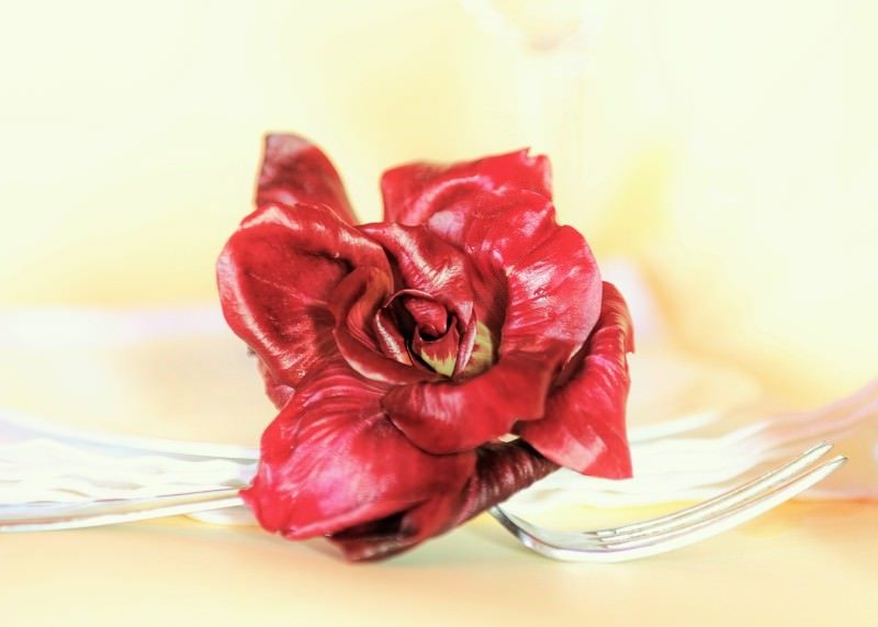 Rosa di Gorizia su forchetta