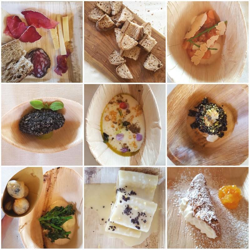 Alcuni dei piatti in degustazione preparati dagli chef CHIC